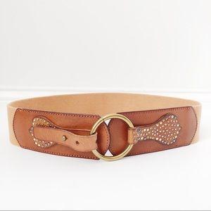 Anthro • Linea Pelle • Wide Leather Waist Belt
